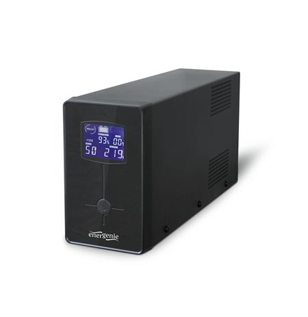 Energenie UPS with LCD display, 650 VA, black