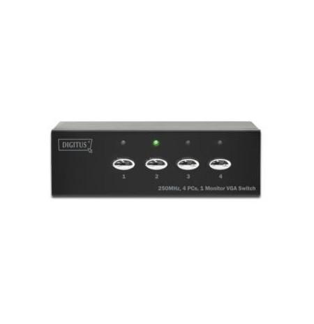 DIGITUS  Switch VGA 250MHz, 1280x1024p, 4-port.