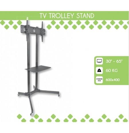 Mobilus stovas Techly sk TV LCD/LED/Plazma 30''-65'' 60kg VESA palenk. su lent.