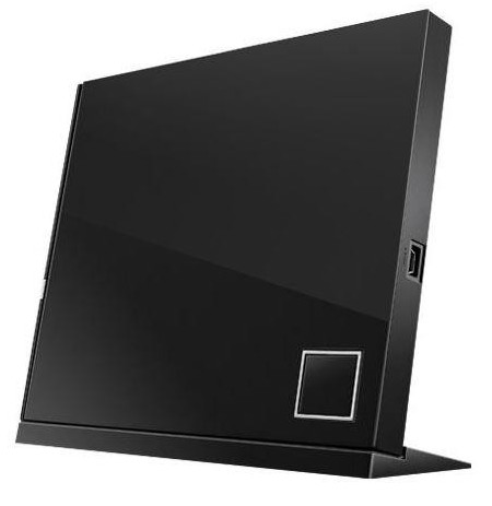 ASUS External Slim Blu-ray Writer, Black, SBW-06D2X-U/BLK/G/AS