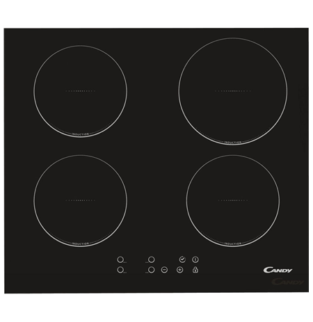 Candy CI640C Induction Hob, Number of burners/cooking zones 4, Black, Display, Timer
