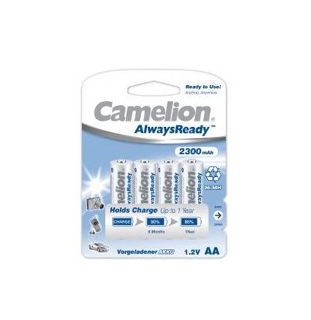Camelion AA/HR6, 2300 mAh, Camelion AlwaysReady Rechargeable Batteries Ni-MH, 4 pc(s)