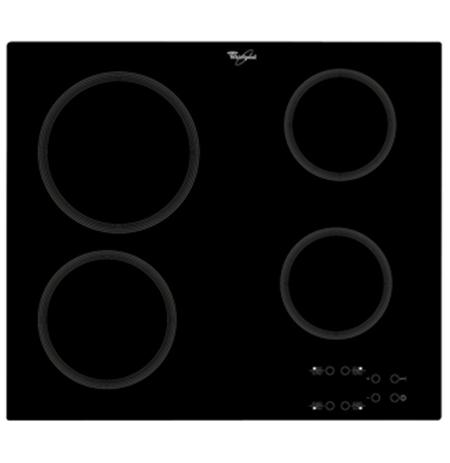 Whirlpool AKT 801/NE Vitroceramic, Number of burners/cooking zones 4, Black, Timer