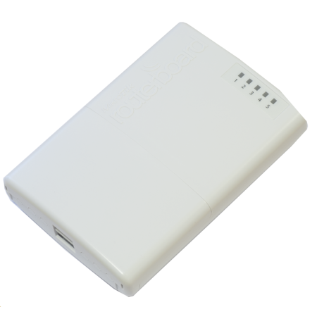 MikroTik PowerBox Outdoor 5x Ethernet port router with PoE output 6V-30V/1-2A