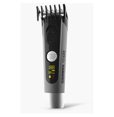 Carrera Hair clipper No. 622 Cordless, Number of length steps 4, Grey/Black
