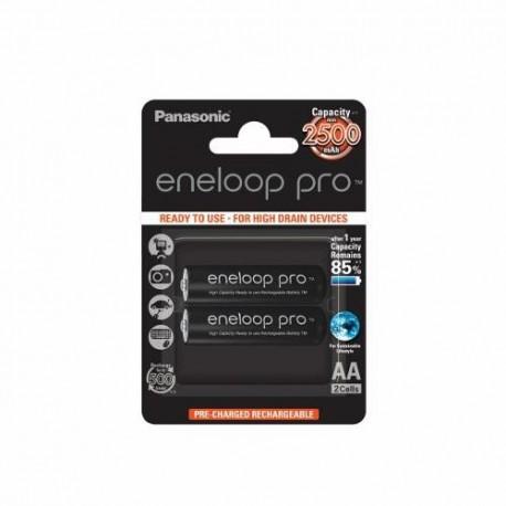 Panasonic Eneloop Pro R6/AA 2500mAh, 2 Pcs, Blister
