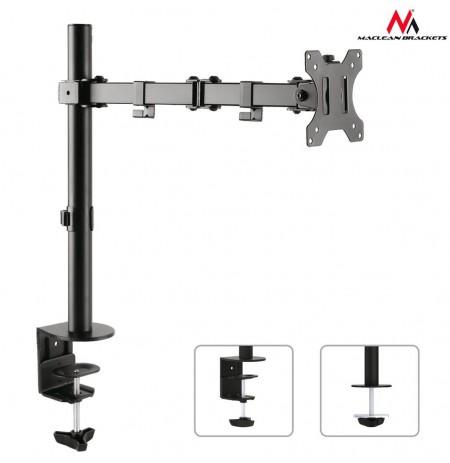 Maclean MC-753 Monitor desk braket 13-32'' 8kg vesa 75x75, 100x100 duble arm