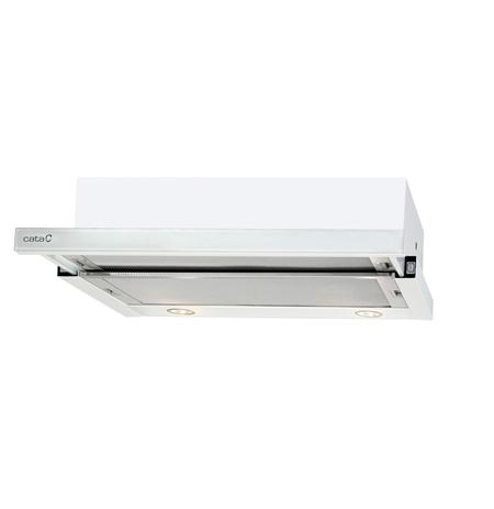 CATA TF 2003 600 GWH Switch, Plotis 60 cm, 340 m³/h, White Glass, Energijos efektyvumo klasė C, 57 dB, Telescopic