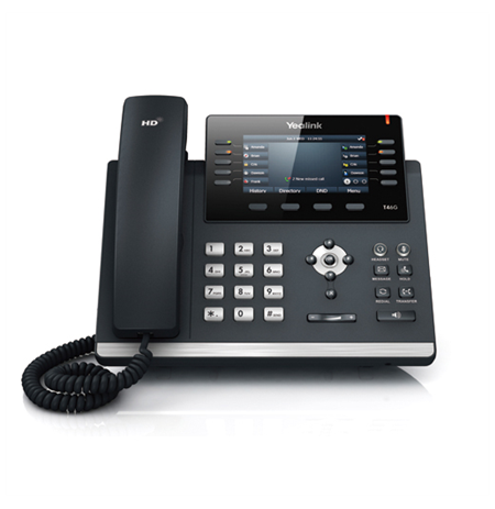 """Yealink SIP-T27G IP Phone, 3.66"""" 240x120-pixel graphical LCD with backlight, 6 VoIP accounts"""