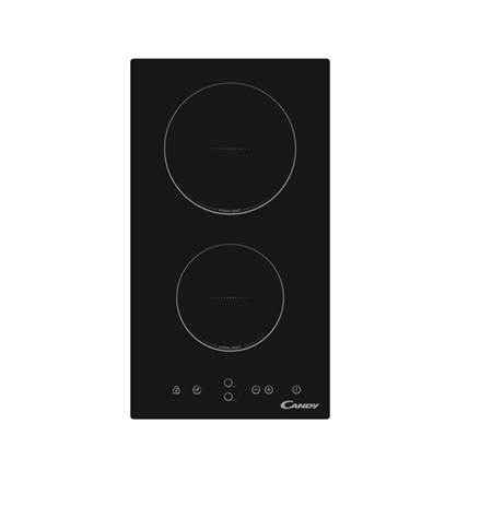 Candy Domino CDH 30 Vetroceramic, Number of burners/cooking zones 2, Black, Display, Timer