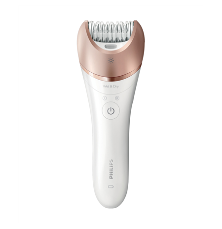 Philips Satinelle Epilator BRE650/00 Number of speeds 2, Operating time 40 min, 5.4 W, White/Pink