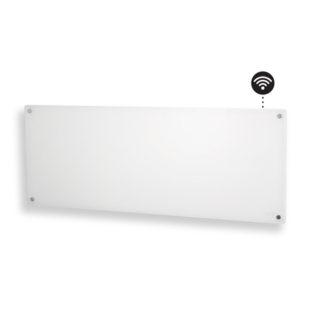 Mill Glass AV1200WIFI WiFi Panel Heater, 1200 W, Suitable for rooms up to 18 m², Number of fins Inapplicable, White