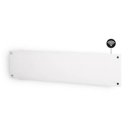 Mill Glass AV800LWIFI WiFi Panel Heater, 800 W, Suitable for rooms up to 14 m², Number of fins Inapplicable, White
