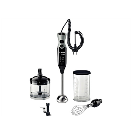 Bosch MSM67170 Hand blender Silent Motor & Low Vibration, Adjustable Speed, MixxoQuattro, 750 W, 1.5 m cord, Black