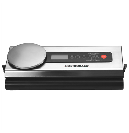 Gastroback Vacuum sealer with scale  46012 Stainless steel/ black, 110 W