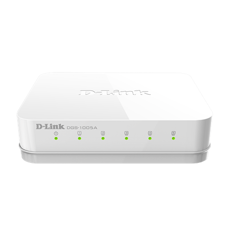 D-Link Switch DGS-1005A Unmanaged, Desktop, 1 Gbps (RJ-45) ports quantity 5, Power supply type Single