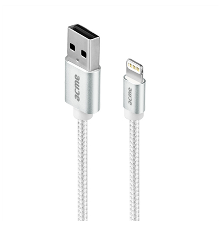 Acme CB2031S Lightning, USB A, 1 m, Silver
