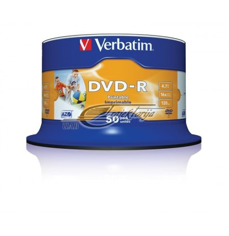 DVD-R AZO 4.7GB 16X WIDE PRINT NON-ID SP 50PCS