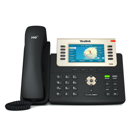 "Yealink SIP-T29G IP Phone, 4.3"" 480 x 272-pixel color display with backlight, 16 VoIP accounts"