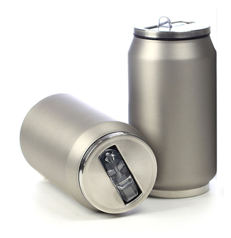 Yoko Design Isotherm Tin Can 280 ml, Soft touch silver