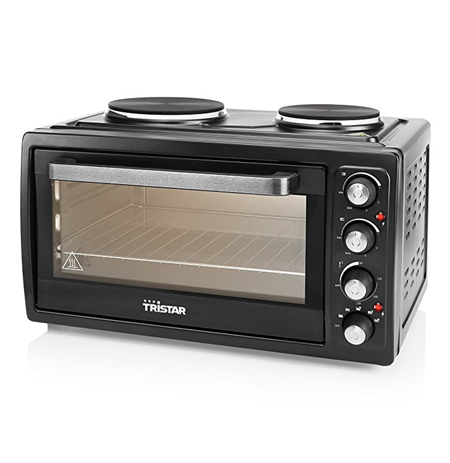 Tristar Electric mini oven OV-1443  Convection with grill, 38 L, Black, Rotary knobs, Integrated timer, Table top