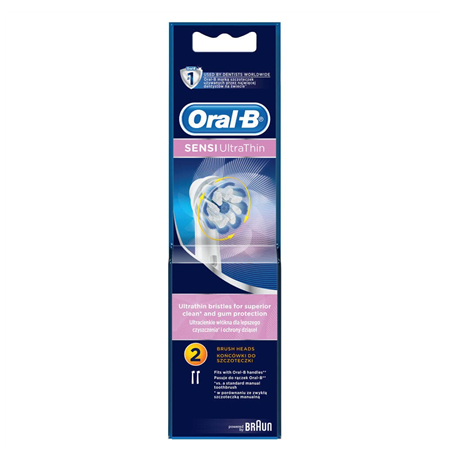 Oral-B Sensitive  EB60-2 Number of brush heads included 2