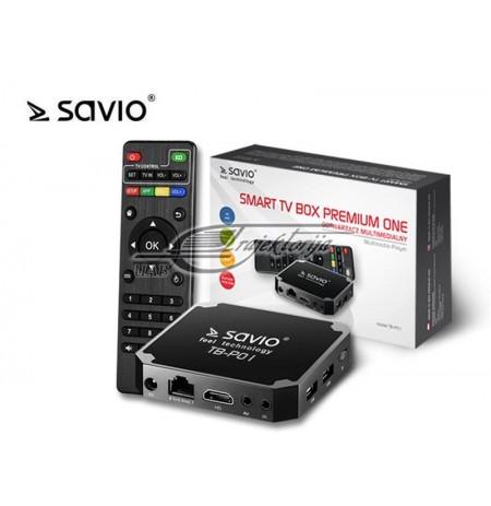ANDROID MEDIA GROTUVAS SAVIO SMART TV BOX PREMIUM ONE TB-P01
