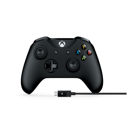 Microsoft 4N6-00002 Xbox Wireless Controller + Cable For Windows