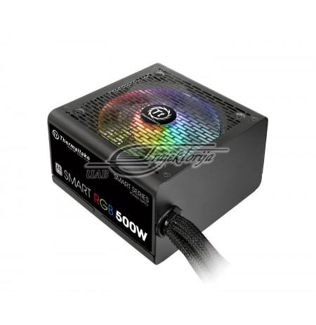 PSU Thermaltake Smart 500W RGB (80+ 230V EU, 2xPEG, 120mm, Single Rail)