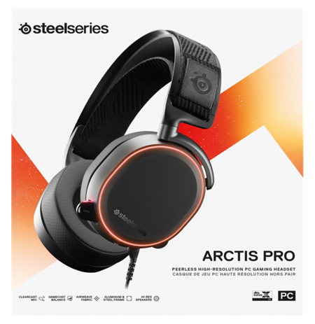 SteelSeries Black, Gaming headset, Arctis Pro, Built-in microphone, USB / 3.5mm
