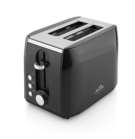 ETA Toaster Black, 900 W, Number of slots 2, Number of power levels 7, Bun warmer included