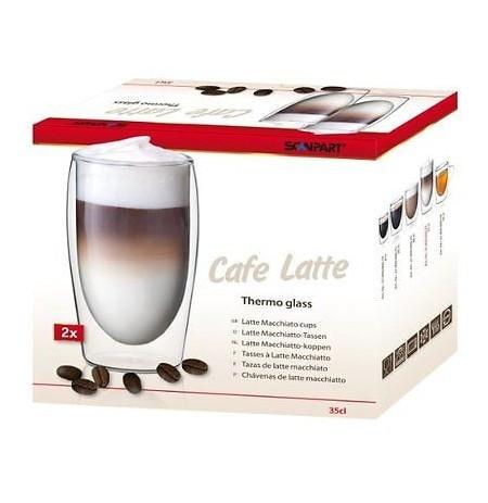 Scanpart CAFE LATTE dvigubo stiklo stiklinės 2 x 350 ml