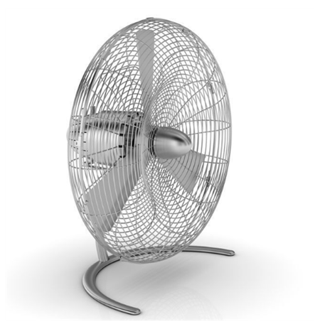 Stadler form CHARLY C050E Desk Fan, Number of speeds 3, 60 W, Oscillation, Diameter 45 cm, Stainless steel