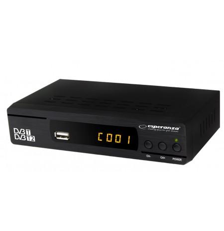 Skaitmeninis imtuvas ESPERANZA DVB-T/T2 EV104
