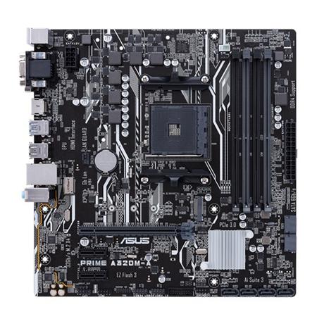Asus PRIME A320M-A Processor family AMD