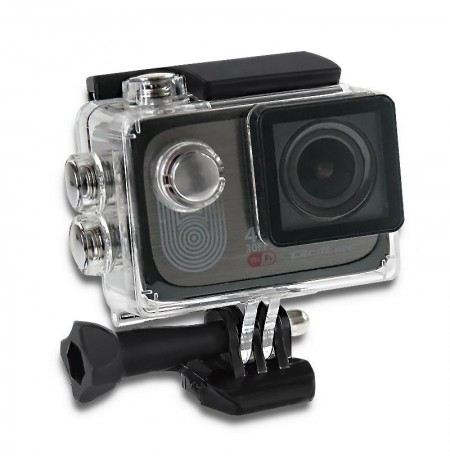 Waterproof Sports Camera Full HD Qoltec 2'' | 4K | black