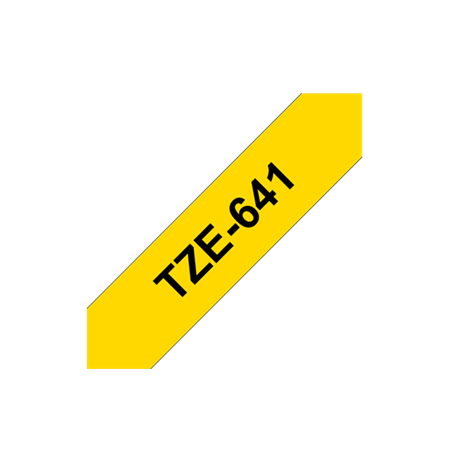 Brother TZe-641 Laminated Tape Black On Yellow, TZe, 8 m, 1.8 cm