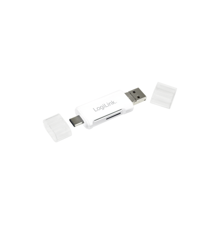 LOGILINK - Card reader USB 2.0, 3-in-1, USB-C to Micro-B or USB-A