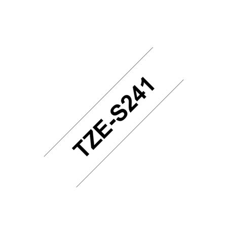Brother TZe-S241 Strong Adhesive Laminated Tape Black on White, TZe, 8 m, 1.8 cm