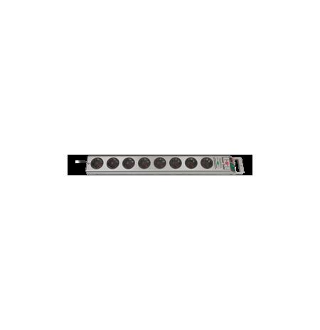 Brennenstuhl Super-Solid Line prailgintuvas - Viršįtampių apsauga - 8 - Sidabrinis 1153340318 / GT-656