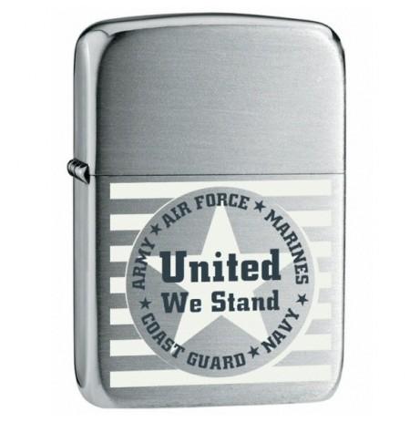 Žiebtuvėlis ZIPPO 24297 United We Stand Chrome