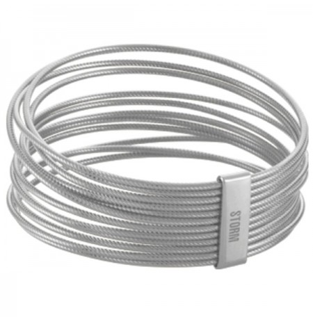 Apyrankė Storm Cartel Twist Bangle Steel