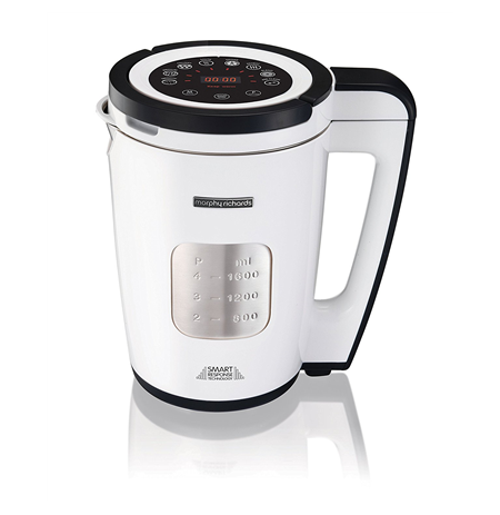 Morphy richards Total Control Soup Maker White, 1100 W, Functions With reheat and keep warm functions,