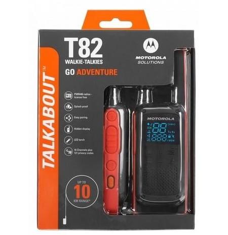 Motorola T82 portatyvios radio stotelės, 10km, 8kanalai