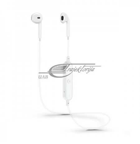 Headphones SAVIO WE-01 (In-ear, Bluetooth, wireless, with a built-in microphone, white color)