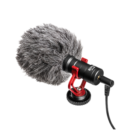 Mikrofonas BOYA galima prijungti prie išmaniojo telefono / DSLR / PC, juodas / BY-MM1 / BOYA10035