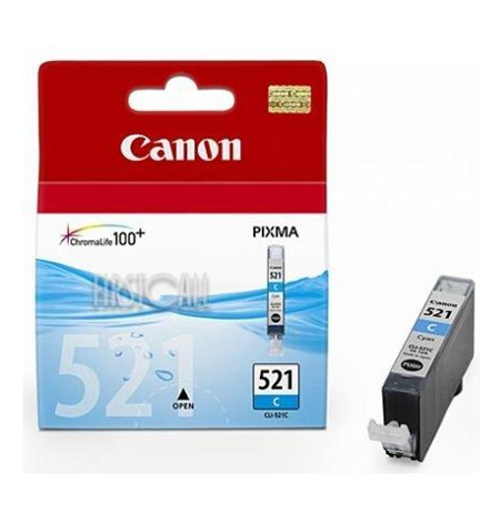 Canon CLI-521C Cyan Ink Tank (for Pixma IP3600/IP4600/MP540/MP620/MP630/MP980), 505 p.@ A4 5%