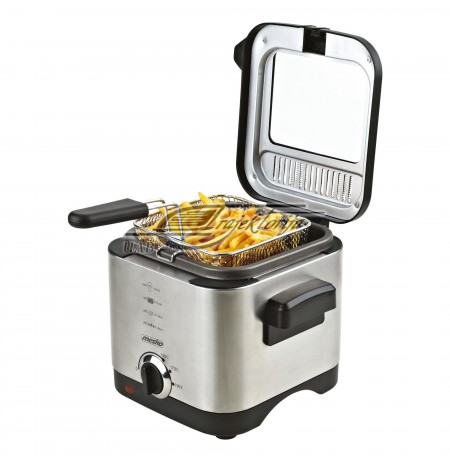 Fryer MESKO MS 4910 (1,5 l, 0,5 kg, 900 W, silver color)
