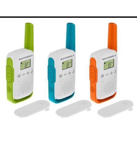 Motorola T42 Triple Pack short-wave radio, 4km, Mix Color