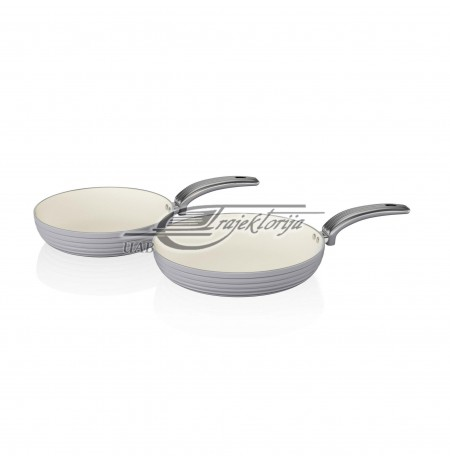 SWAN RETRO 2 PIECE FRYING PAN SET GREY SWPS2010GRN